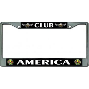 Club America Chrome License Plate Frame