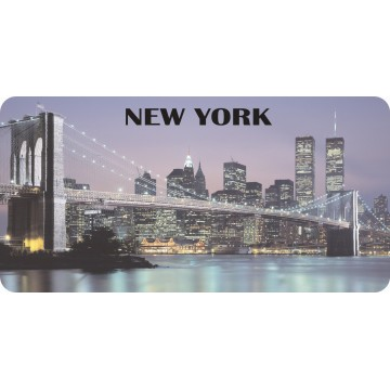 New York Skyline Photo License Plate