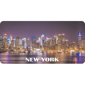 New York Skyline #2 Photo License Plate