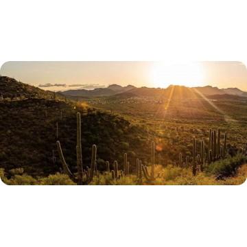 Arizona Mountains Sunset Photo License Plate
