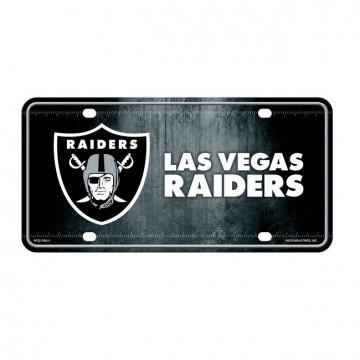 Las Vegas Raiders Metal License Plate