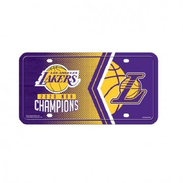 Los Angeles Lakers 2020 NBA Champions Metal License Plate
