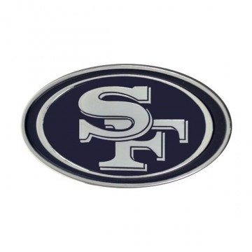San Francisco 49ers 3-D Metal Auto Emblem