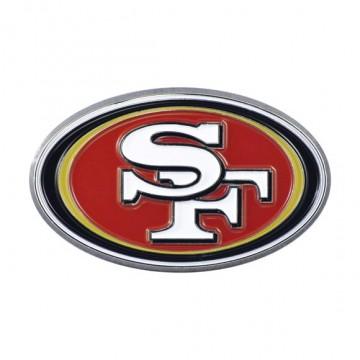 San Francisco 49ers 3-D Color Metal Auto Emblem