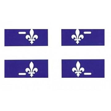 Quebec Flag Airbrush License Plate