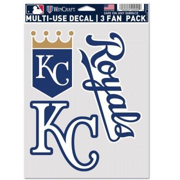 Kansas City Royals 3 Fan Pack Decals