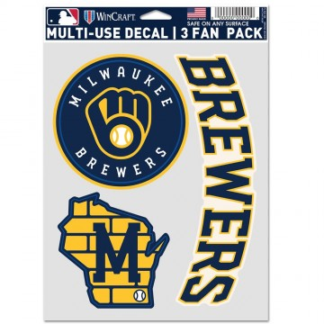 Milwaukee Brewers 3 Fan Pack Decals