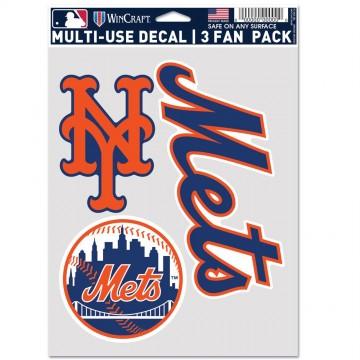 New York Mets 3 Fan Pack Decals