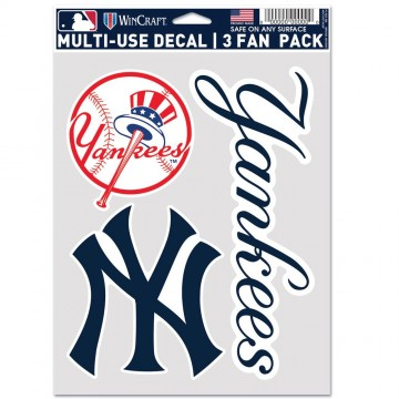 New York Yankees 3 Fan Pack Decals