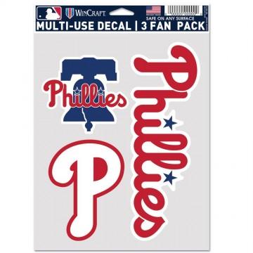 Philadelphia Phillies 3 Fan Pack Decals