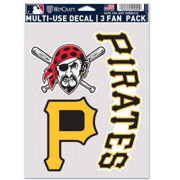 Pittsburgh Pirates 3 Fan Pack Decals
