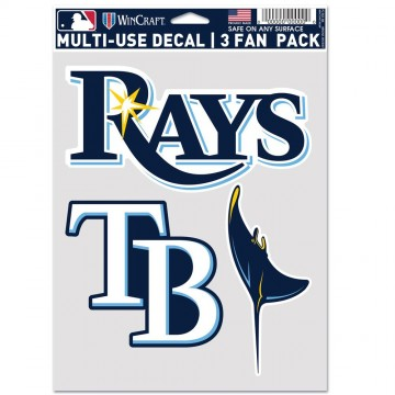 Tampa Bay Rays 3 Fan Pack Decals