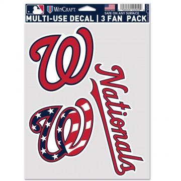 Washington Nationals 3 Fan Pack Decals