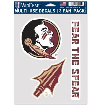 Florida State Seminoles 3 Fan Pack Decals