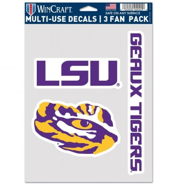 Louisiana State University Tigers 3 Fan Pack Decals