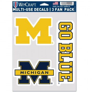 Michigan Wolverines 3 Fan Pack Decals