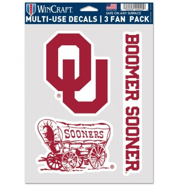 Oklahoma Sooners 3 Fan Pack Decals