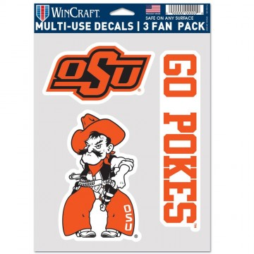 Oklahoma State Cowboys 3 Fan Pack Decals
