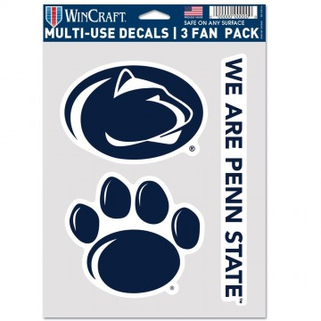 Penn State Nittany Lions 3 Fan Pack Decals