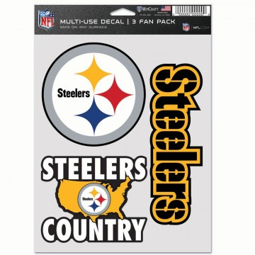 Pittsburgh Steelers 3 Fan Pack Decals