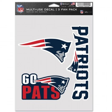 New England Patriots 3 Fan Pack Decals
