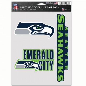 Seattle Seahawks 3 Fan Pack Decals