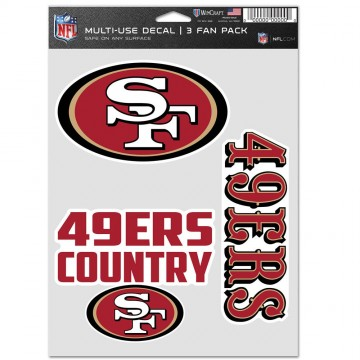 San Francisco 49ers 3 Fan Pack Decals