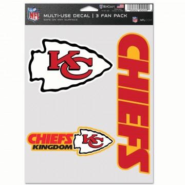Kansas City Chiefs 3 Fan Pack Decals