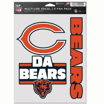 Chicago Bears 3 Fan Pack Decals