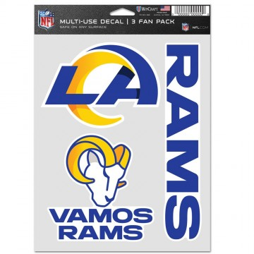 Los Angeles Rams 3 Fan Pack Decals