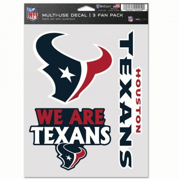 Houston Texans 3 Fan Pack Decals