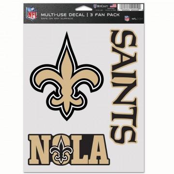New Orleans Saints 3 Fan Pack Decals