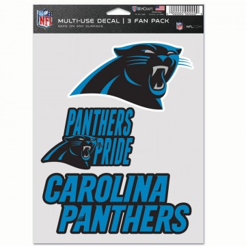 Carolina Panthers 3 Fan Pack Decals