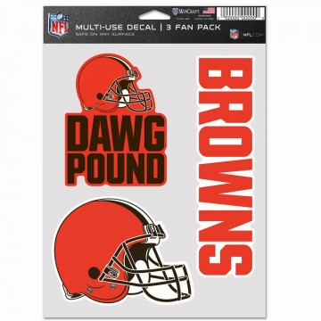 Cleveland Browns 3 Fan Pack Decals