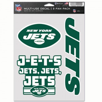 New York Jets 3 Fan Pack Decals