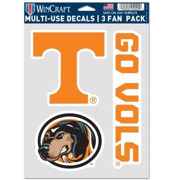 Tennessee Volunteers 3 Fan Pack Decals