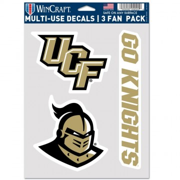 University Of Central Florida Knights 3 Fan Pack Decals