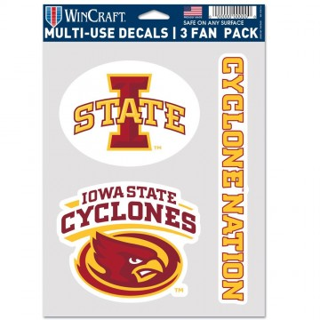 Iowa State Cyclones 3 Fan Pack Decals