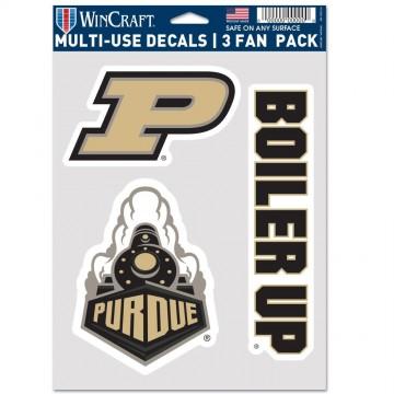 Purdue Boilermakers 3 Fan Pack Decals