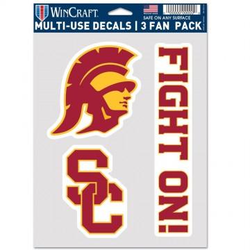 USC Trojans 3 Fan Pack Decals