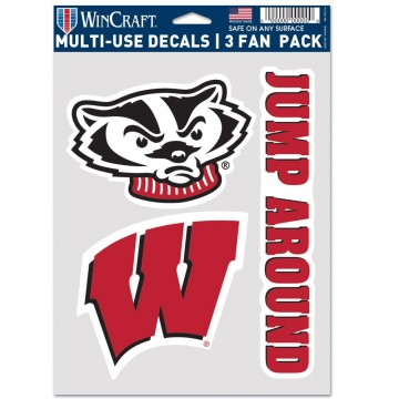 Wisconsin Badgers 3 Fan Pack Decals