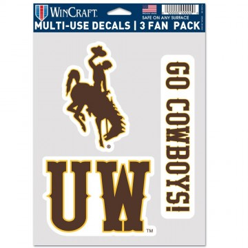 Wyoming Cowboys 3 Fan Pack Decals