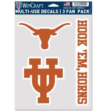 Texas Longhorns 3 Fan Pack Decals
