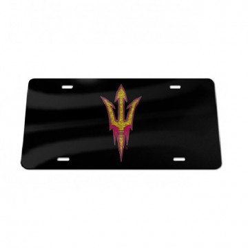 Arizona State Sun Devils Glitter Logo Black Laser License Plate