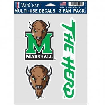 Marshall Thundering Herd 3 Fan Pack Decals