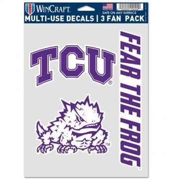 TCU Horned Frogs 3 Fan Pack Decals