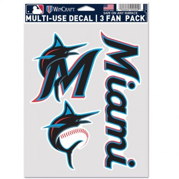 Miami Marlins 3 Fan Pack Decals