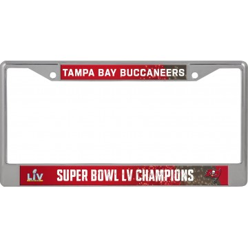Buccaneers 2021 Super Bowl LV Champs Chrome License Plate Frame