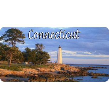 Connecticut Lighthouse Scene Photo License Plate