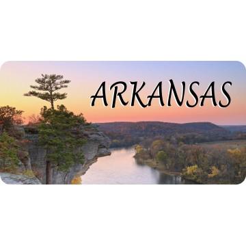 Arkansas River Scene Photo License Plate